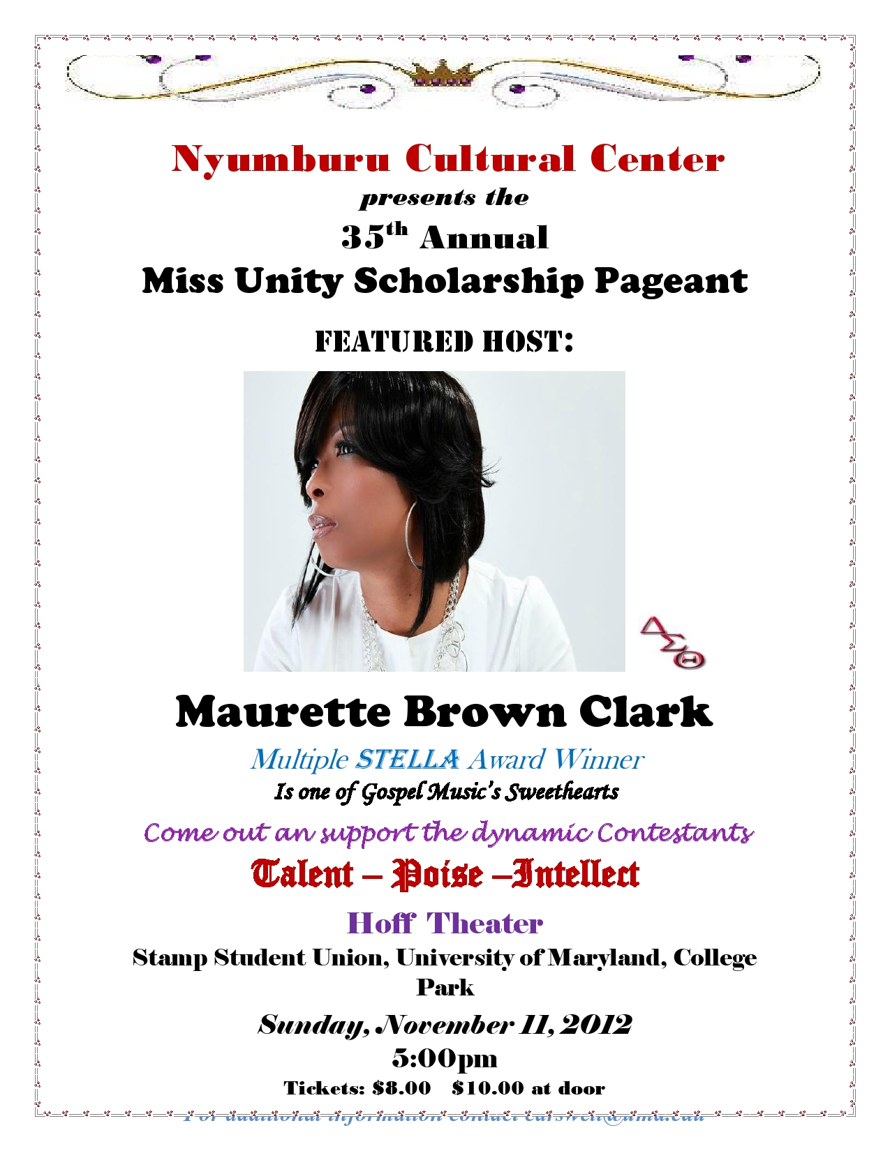 Miss Unity Pageant 2012 Flyer